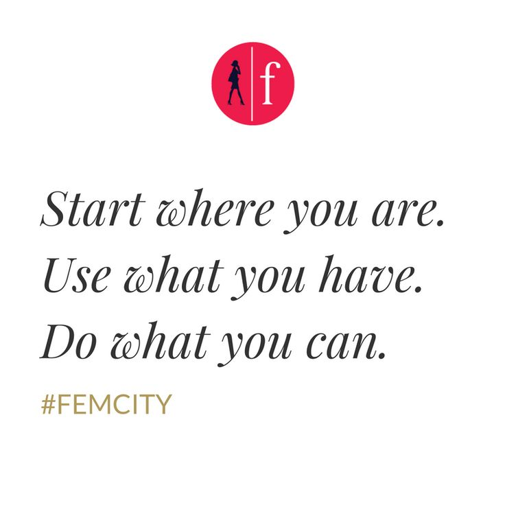 Inspiration & motivation quotes created by FemCity business community created exclusively for women.
