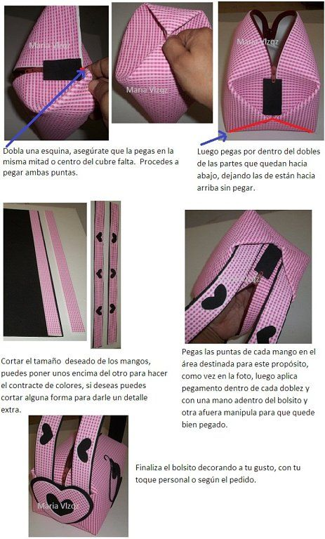 BOLSO EN FOAMI FACILITO (PASO A PASO) | Aprender manualidades es ...