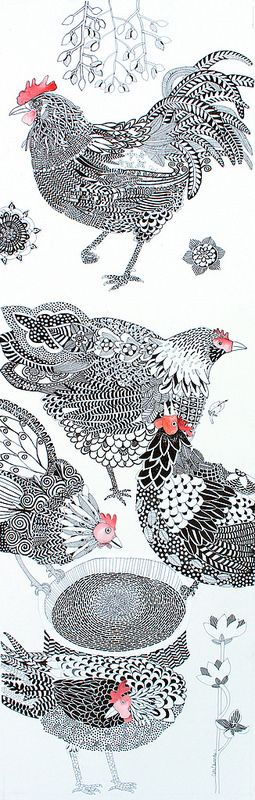 chickens by Cate Edwards