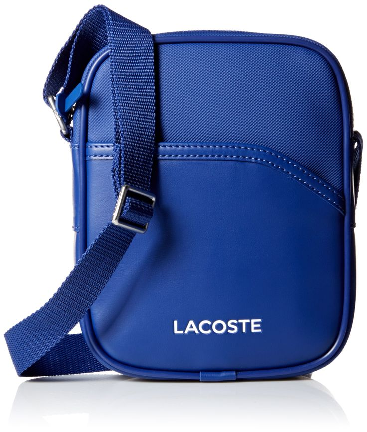 Lacoste Men's Ultimum Small Vertical Camera Bag, Mazarine Blue