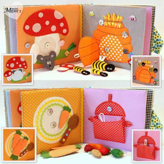DIY Ideas y patrones de libros de estimulacion para bebes                                                                                                                                                      Más