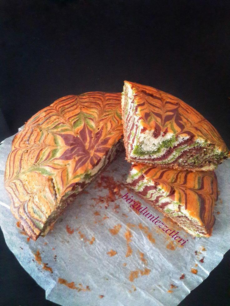 dalgalı kek nasıl yapılır, 3 renkli kek nasıl yapılır, sebzeli kek, ıspanaklı kek, renkli kek yapımı, kolay kek nasıl yapılır, gökkuşağı kek,fox tv,memet özer, memetözerilefoxtv,