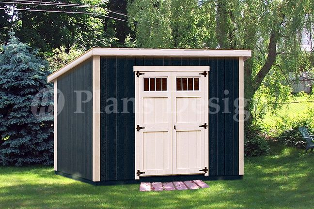 Design D0610m 6 39 X 10 39 Delux Modern Shed Plans Roof Style