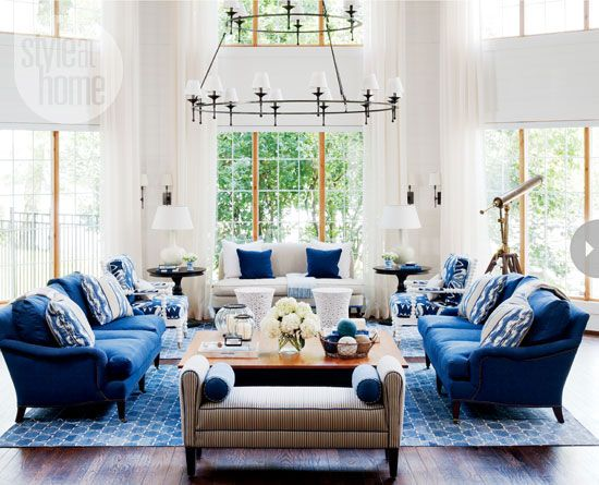 Madeline Weinrib Indigo Brooke Cotton Carpets, interior by Style at Home's design editor Jessica Waks
