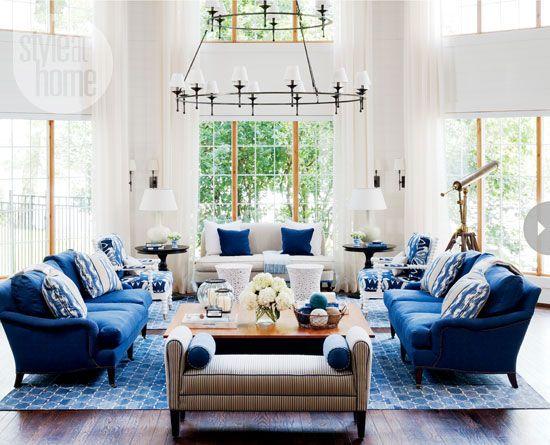 Madeline Weinrib Indigo Brooke Cotton Carpets, interior by Style at Home's design editor Jessica Waks