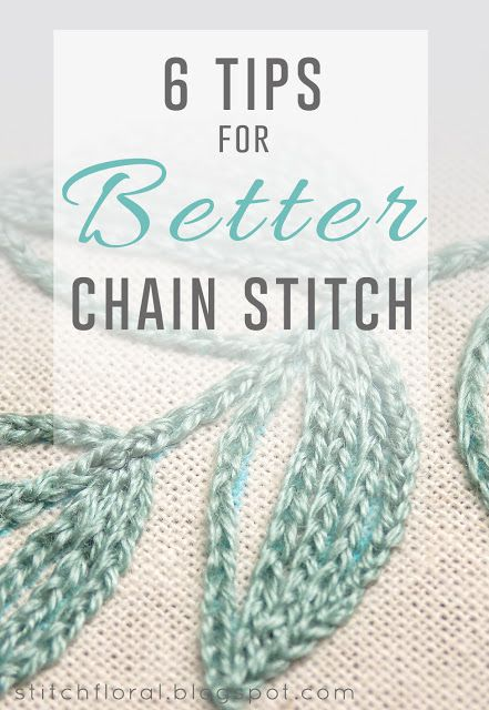 6 tips for better chain stitch  #chain_stitch, #stitch_tutorial, #hand_embroidery_tips