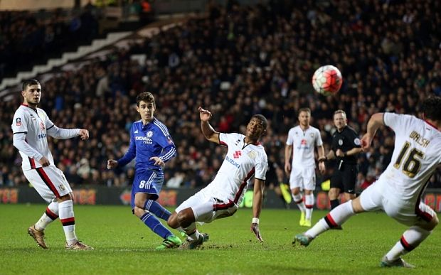 MK Dons 1 Chelsea 5 FA Cup match report: Oscar plays a starring role as revitalised Chelsea put MK to the sword