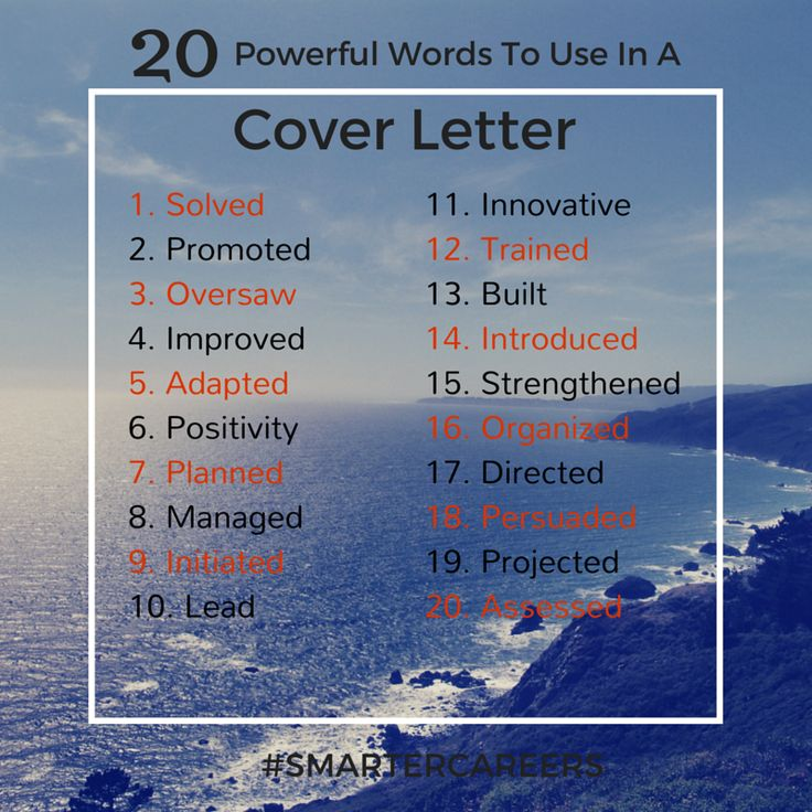 68 best Career Tips images on Pinterest Career, Tips and Photos - words to use in a cover letter