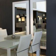 juego de dos espejos verticales con cantos blancos recibidores diseo muebles valencia