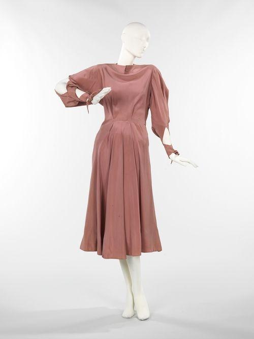 Dress Charles James, American ca. 1946 silk