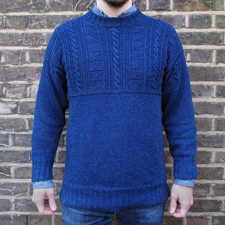 Knitting Pattern Guernsey Sweater : 88 best Knitted Tops images on Pinterest Knit tops, Knit ...