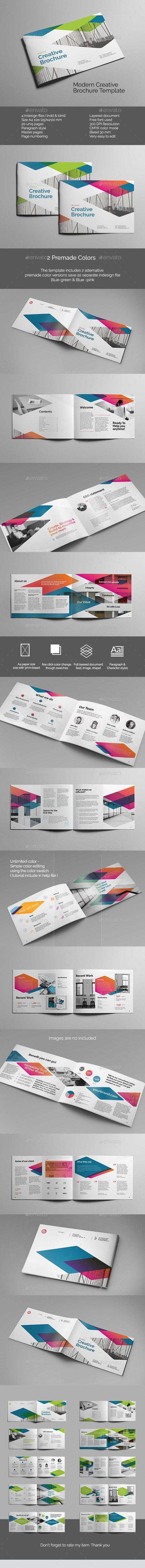 Modern Creative Brochure Template InDesign INDD #design Download: http://graphicriver.net/item/modern-creative-brochure/13465167?ref=ksioks