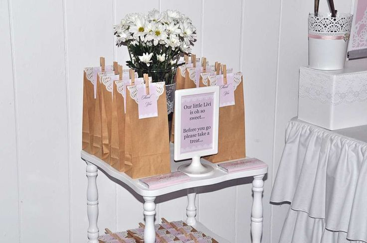 Lace & Pearl Baptism Party Ideas | Photo 1 of 17 | Catch My Party