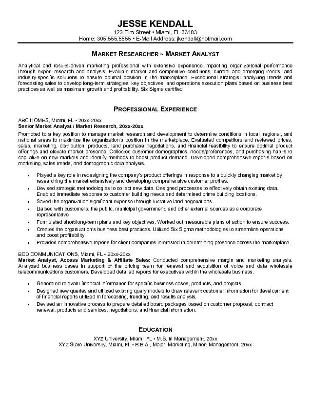 cover letter for market research analyst resume http www