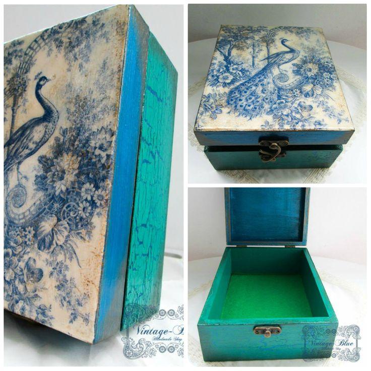 Peacock box♥ https://www.facebook.com/AnaVintageBlue