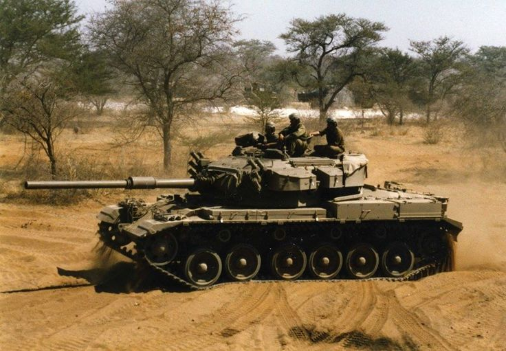 South African Olifant tank during the border war in Angola.