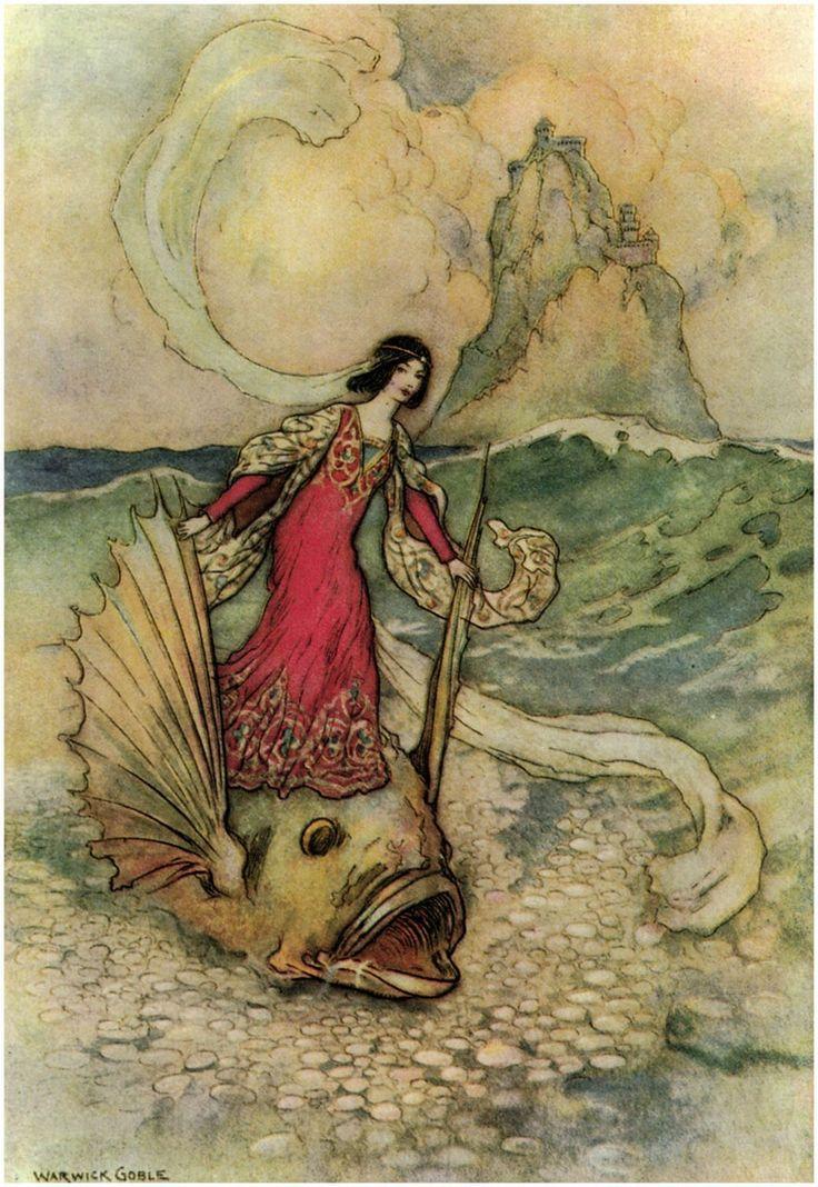 "artofnarrative: "" Warwick Goble ~ Enchanted Princess ~ via The Pictorial Arts """