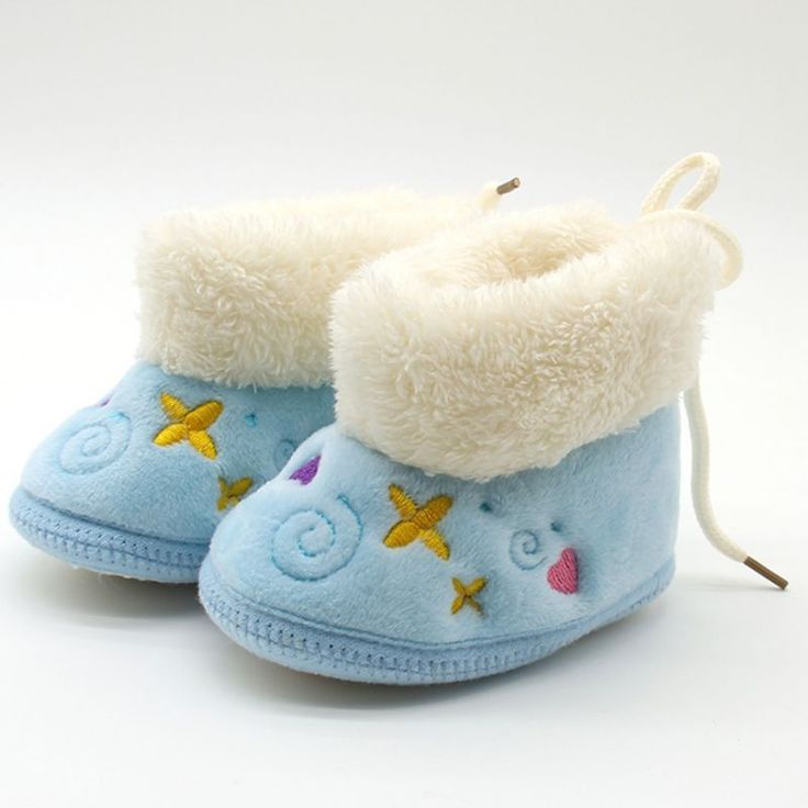 Newborn Girls Warm Soft Baby Shoes Nonslip Embroidery Snow Boots 018M Drop