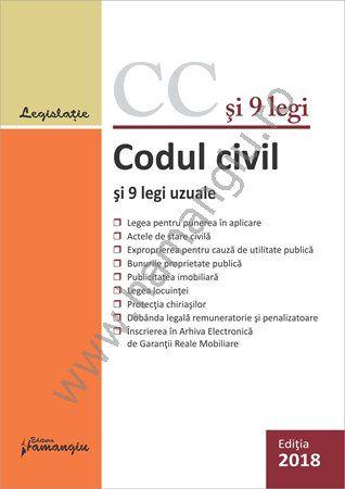 Codul civil si 9 legi uzuale - actualizat 29 ianuarie 2018