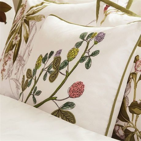 "Bring nature into your home with the Harbor House Eternity Bedding Collection. This floral embroidered 18x18"" square pillow plays up the floral design from the top of bed and shows off the beautiful flowers used in this collection."