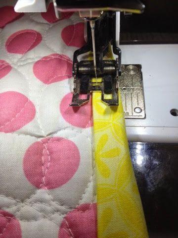 machine binding with clear thread