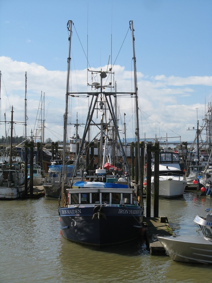 The Iron Maiden fishing boat in the Steveston BC harbour. This is a great place to go boat watching. - Margy