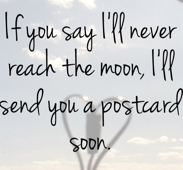 """-""""Postcard"""" by Bridget Mendler. -Follow your dreams and darling, never doubt yourself.-"""