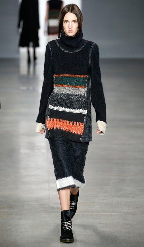 LOVE -The Darker Horse: Knit Collage: Calvin Klein Fall/Winter 2014