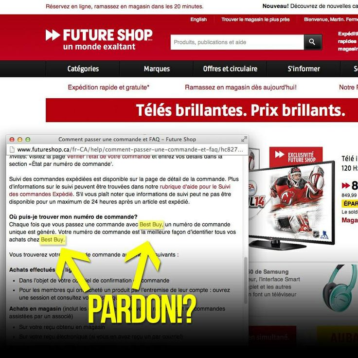 Quand Future Shop ajoute la FAQ de Best Buy! #fail