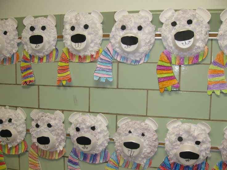 Kindergarten Art: Tissue Paper Collage Polar Bears
