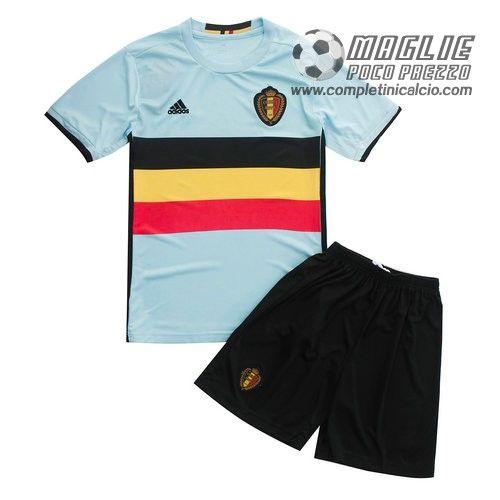Away maglia calcio bambini Belgio Euro 2016