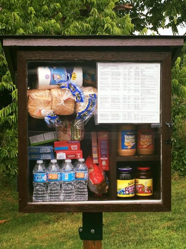 Woman's 'Little Free Pantry' Offers Food, Personal Hygiene Items to Those in…