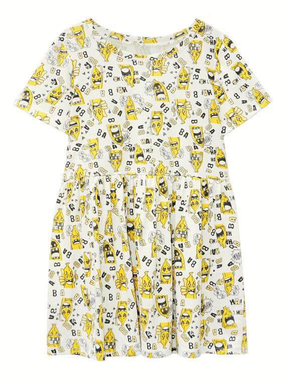 Crazy banana kanvas trui breien Kiel jurk babydoll door OONTOODstyle