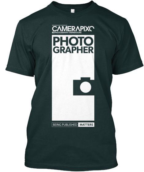 BLACK PHOTOGRAPHER Camerapixo T-Shirt