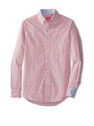 55% OFF IZOD Men's Long Sleeve Essential Check Woven Shirt (Baked Apple)