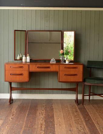 北欧スタイルのヴィンテージ家具、G-planの三面鏡ドレッサー (x-547-f)