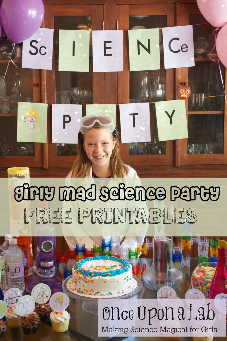 Mad Science Party pr Girls FREE Printables