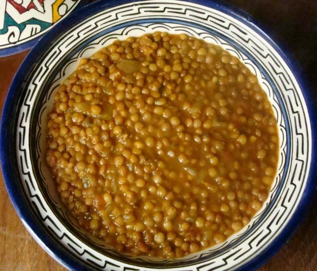 Moroccan Lentils Recipe   Moroccan lentils can be prepared with or without meat. This is the vegetarian version.