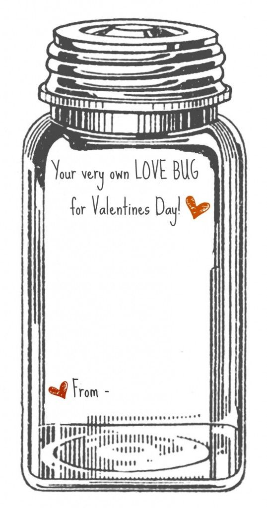 valentine - your very own Love Bug - printable