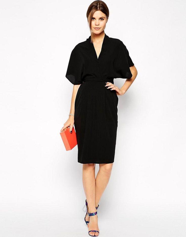 ASOS | ASOS Pencil Dress with Kimono Wrap Detail at ASOS