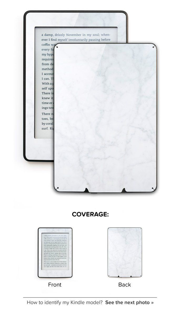 Kindle, Kindle Paperwhite and Kindle Fire Skins and Decals - White