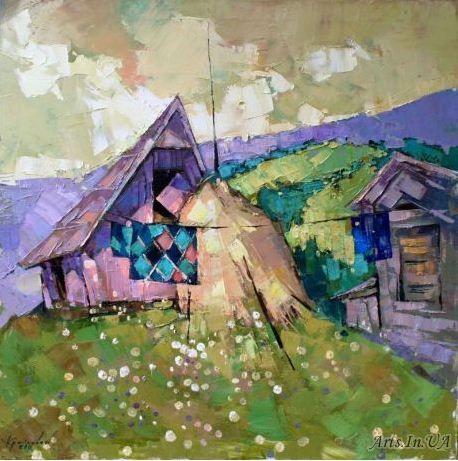 Крайнева Анастасия. Картины мастихином. Лоскутное одеяло
