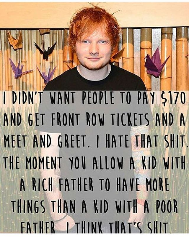 .... (I don't blame Ed for the ticket prices)  #teddysphotos #sheerio #edsheeran