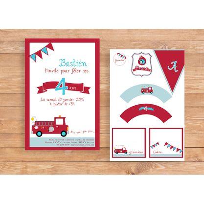 kit anniversaire imprimer au feu les pompiers anniv sam le pompier pinterest. Black Bedroom Furniture Sets. Home Design Ideas