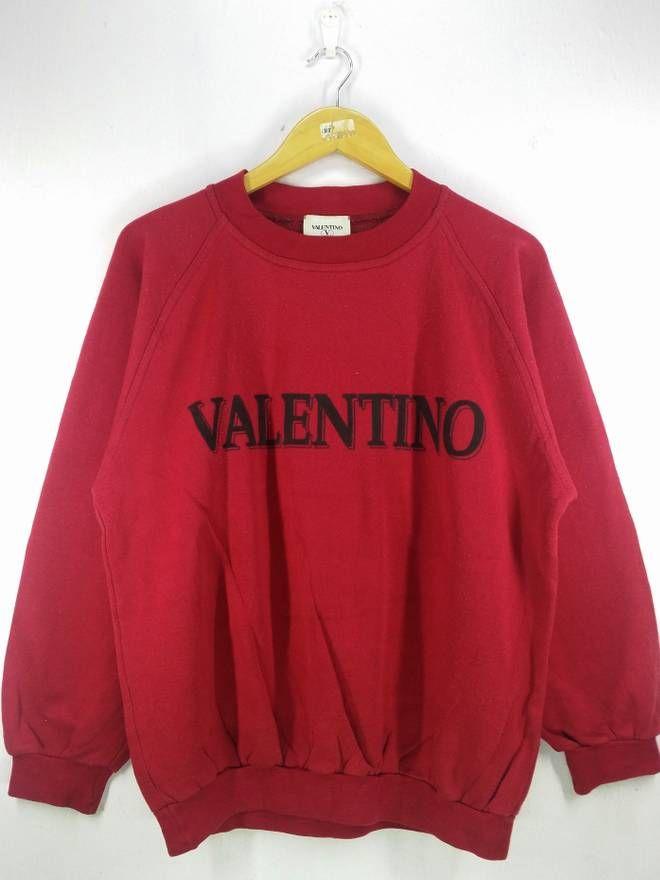 841f738960b7 Valentino Valentino Big Logo Spell Out Sweatshirt Jumper Pullover Size  Medium Size US M   EU
