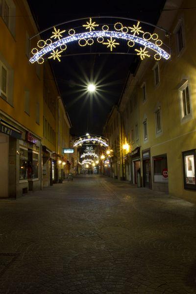 Weihnachtliche Beleuchtung in Villach #kgc #golf #weihnachten #villach #kärnten