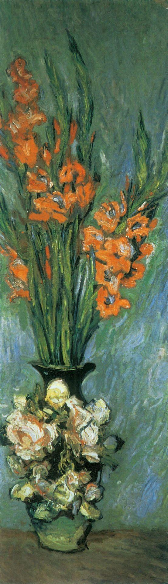 (via All sizes   1882-85 Claude Monet Gladioli(collezione privata)   Flickr - Photo Sharing!)
