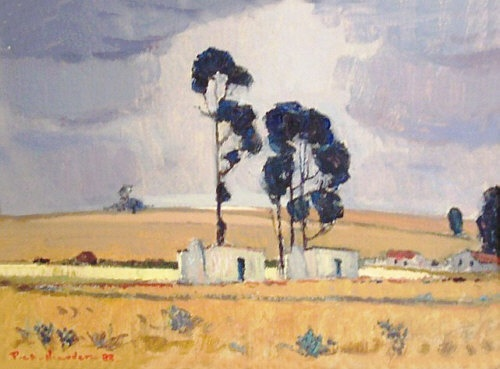PIET VAN HEERDEN 'Landscape' Oil on board 29 x 39cm