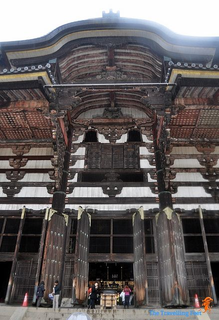 the massive entrance to the Todaiji Temple by thetravellingfeet, via Flickr