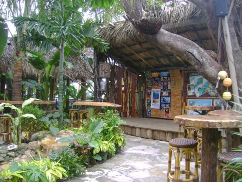 Guanabanas Tiki Stage and Waterfall Patio